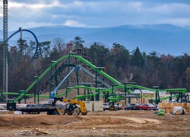 Dollywood Dragonflier NEW 2019 Rollercoaster Construction